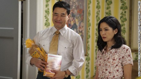 "Randall Park and Constance Wu star in ""Fresh Off the Boat,"" an ABC series about an immigrant family."