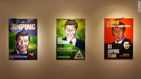 Posters of Chinese President Xi Jinping as a candidate in the Australian general election