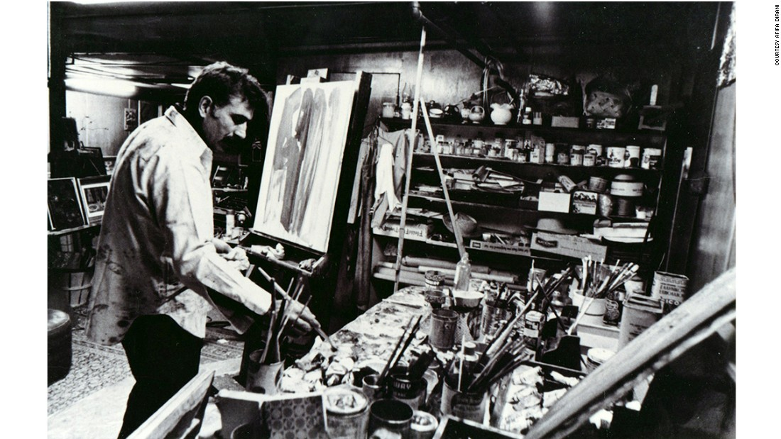 "In 2011, the children of Armenian-Lebanese artist Paul Guiragossian (pictured here in studio in 1970) started the <a href=""http://www.paulguiragossian.com/"" target=""_blank"">Paul Guiragossian Foundation</a> to authenticate and archive the prolific artist's work."