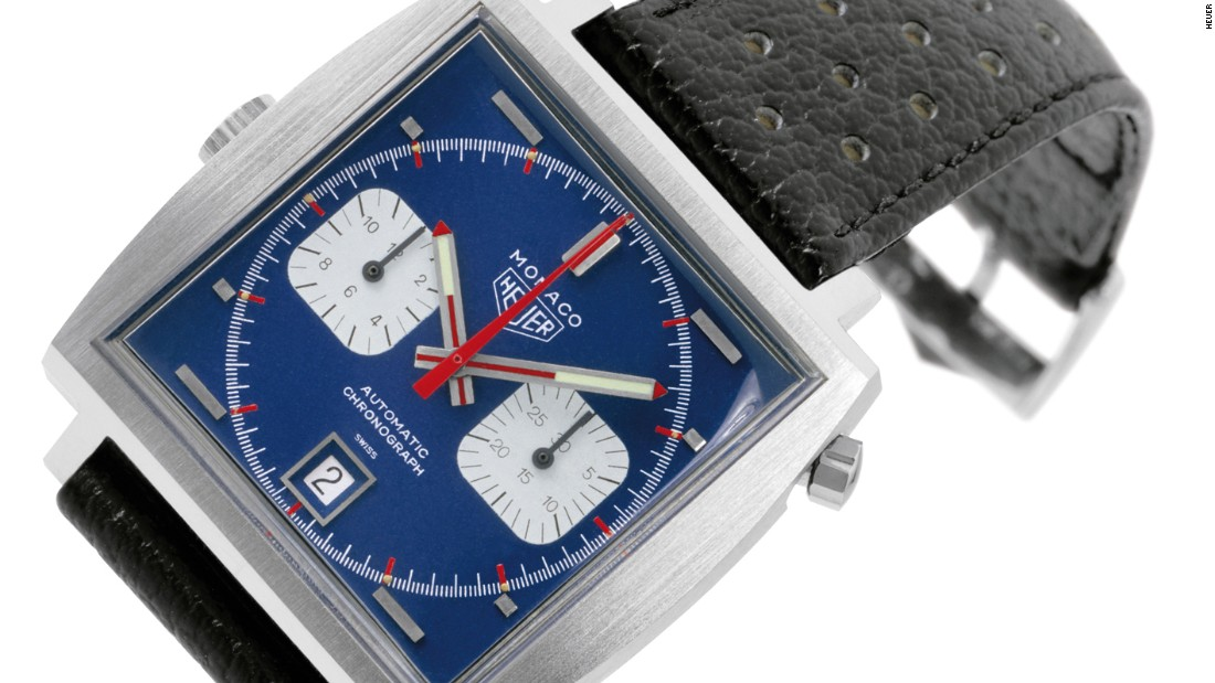 This is the original Heuer Monaco of 1969, as worn by Steve McQueen.