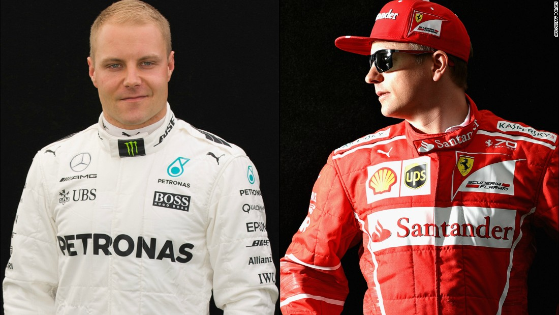 Valterri Bottas (left) and Kimi Raikkonen could make it a memorable Formula One season for Finland.
