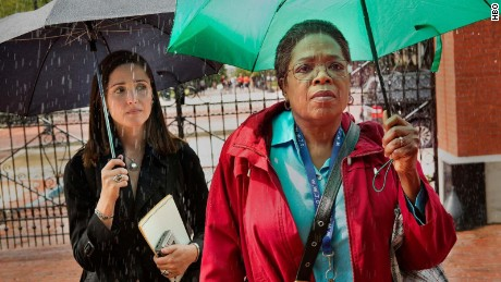 "Oprah Winfrey and Rose Byrne in ""The Immortal Life of Henrietta Lacks."""