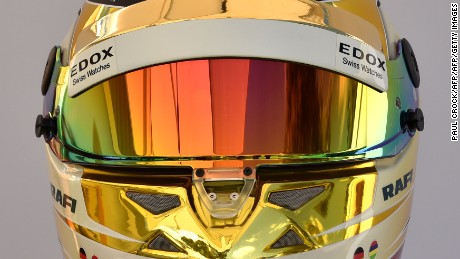 The helmet of Sauber's German driver Pascal Wehrlein is displayed in Melbourne on March 23, 2017, ahead of the Formula One Australian Grand Prix. / AFP PHOTO / Paul Crock / -- IMAGE RESTRICTED TO EDITORIAL USE - STRICTLY NO COMMERCIAL USE --        (Photo credit should read PAUL CROCK/AFP/Getty Images)