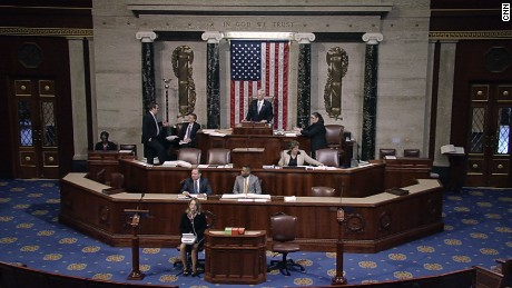 The Congressional chamber during the floor debate over the AHCA, March 24, 2017.
