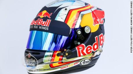 Carlos Sainz's Toro Rosso helmet.