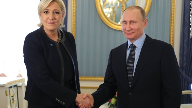 Putin meets with Marine Le Pen at the Kremlin