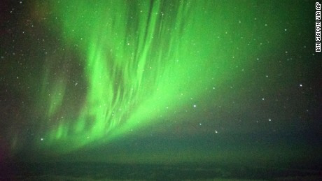 Eager passengers got an up-close look at the Aurora Australis, or Southern Lights.