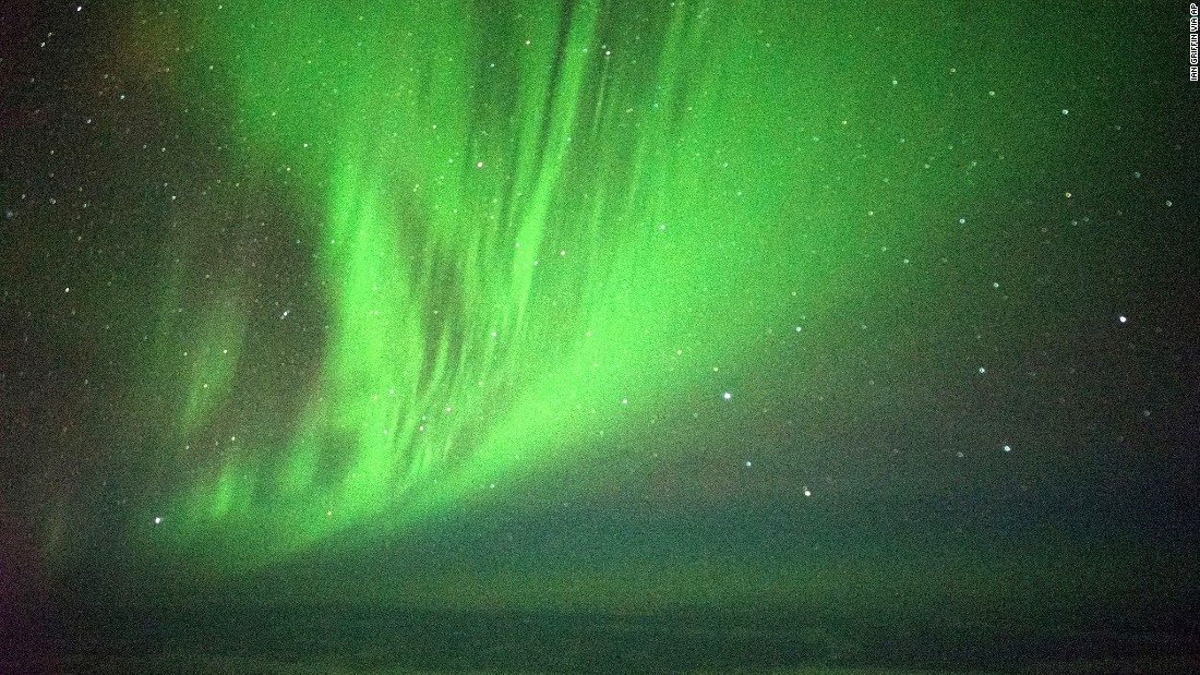 Southern Lights put on show for passengers on special flight