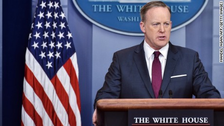 White House Press Secretary Sean Spicer speaks during a briefing in the Brady Briefing Room of the White House on March 24, 2017 in Washington, DC.