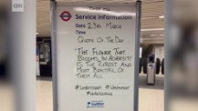 London tube signs go viral after attack