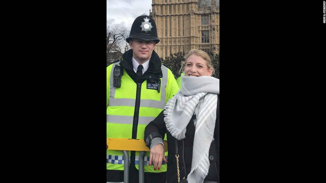 London Attack Police Officer Pictured Hours Before Death