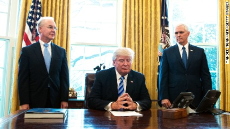 Image result for tom price mike pence donald trump