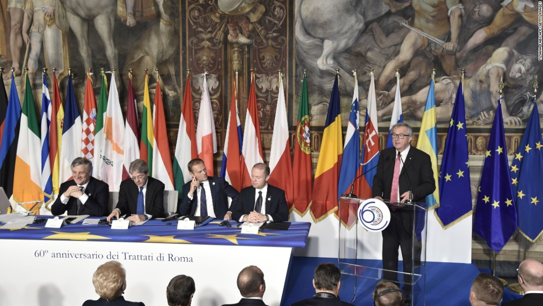 EU leaders mark 60th anniversary with new declaration of unity