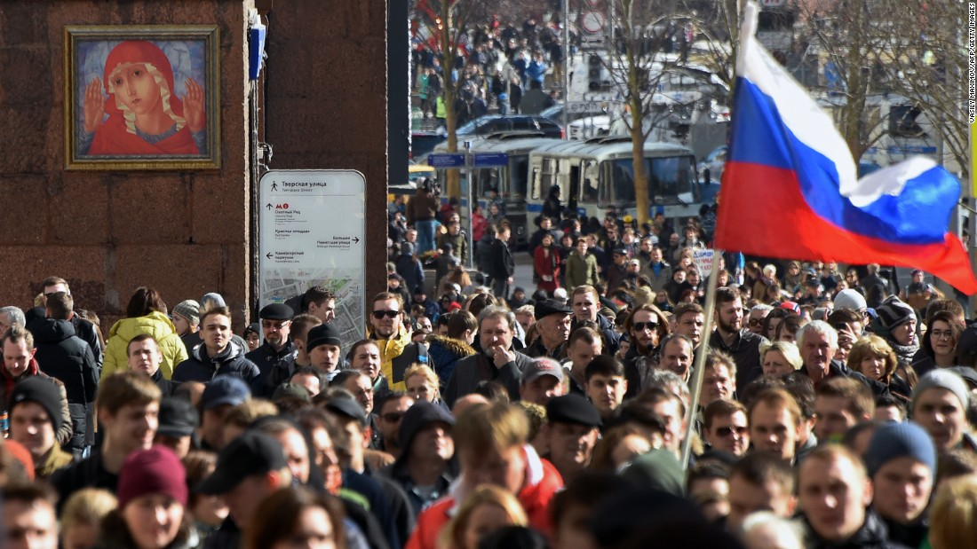 Anti-corruption protesters take to Moscow streets