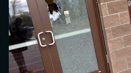 Officials with the Islamic Center of Fort Collins said surveillance video shows a man throwing several large rocks and a Bible through glass doors of the mosque.