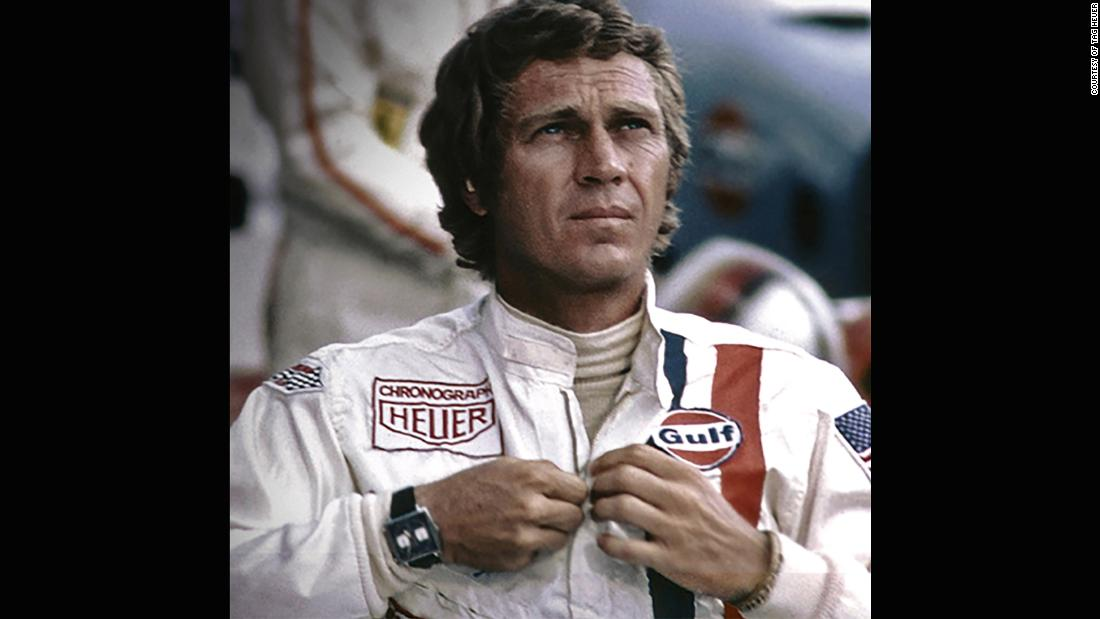 "In the days before it was double-barreled with TAG, Steve McQueen immortalized the square Heuer Monaco chronograph in ""Le Mans"" (1971)."