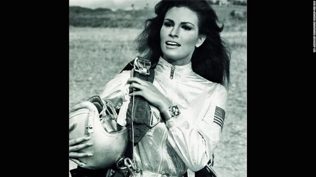 "Ensuring that the best watches weren't solely for the boys, Raquel Welch wore a Breitling Co-Pilot chronograph in ""Fathom"" (1967)."