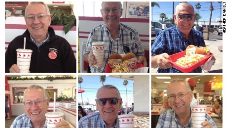 Fred Burry with his weekly In-N-Out.