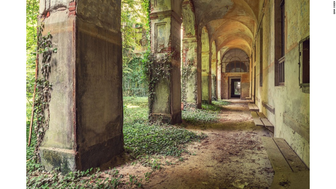 "This photo was taken in an abandoned Italian hospital, where ivy was taking over the central courtyard. ""For me, it's about the historical importance of the buildings,"" she explained, ""and capturing the grandeur and decadence of these places -- before they waste away."""