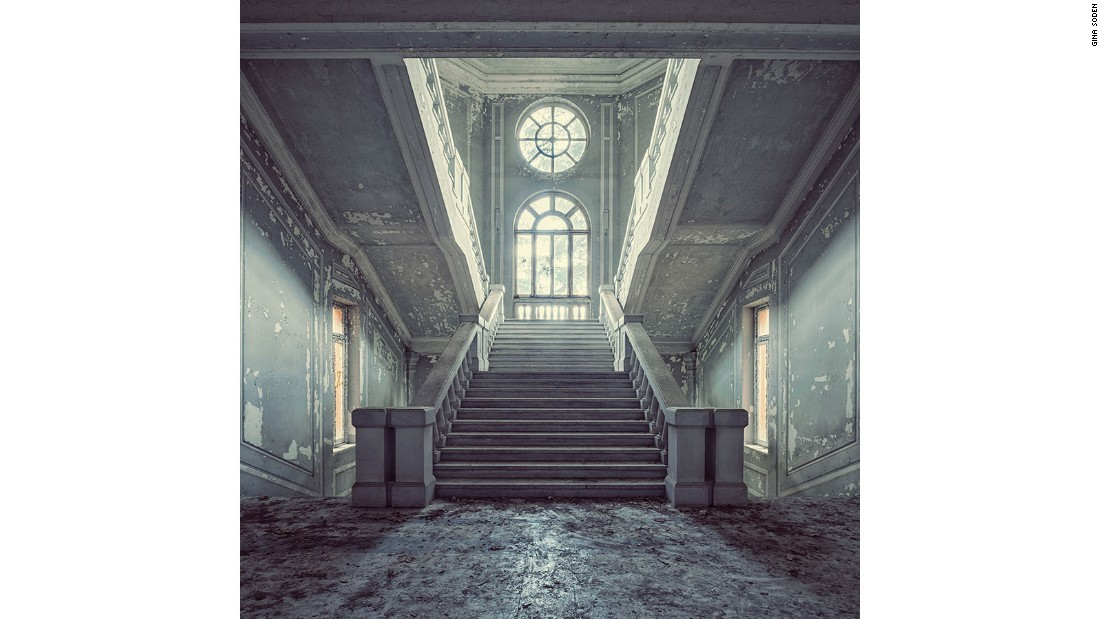 Over the last six years, London-based photographer Gina Soden has photographed some of Europe's most beautiful derelict buildings. This image was taken in a large abandoned asylum in Italy.