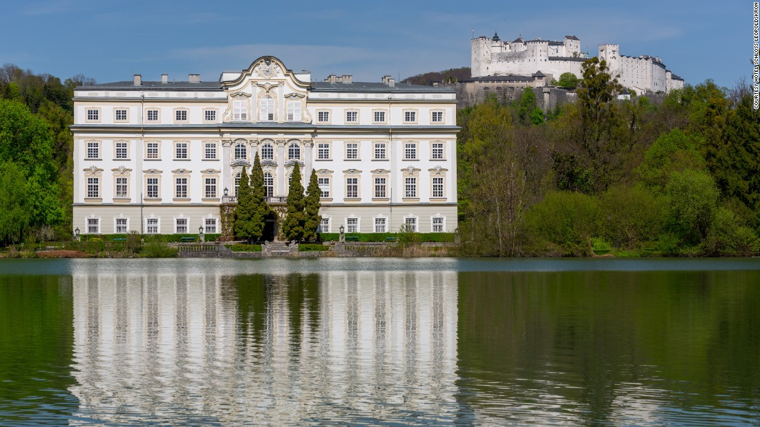 "<strong>Schloss Leopoldskron </strong>-- Technically a palace near a hilltop fortress, this stunning ""The Sound of Music"" star fits the bill for fairytale romance."