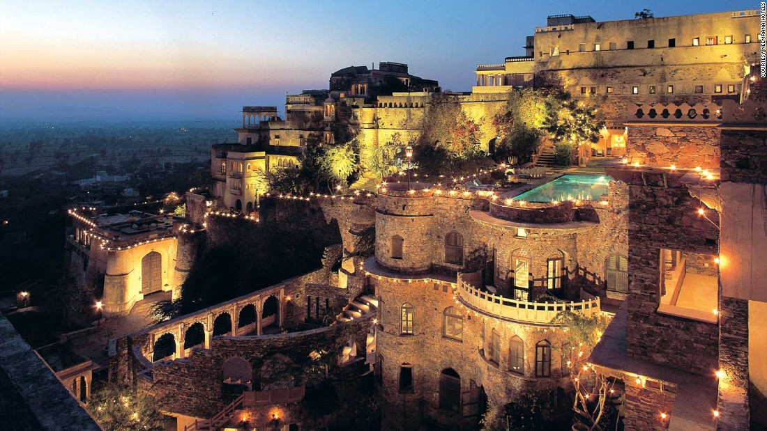 <strong>Neemrana Fort-Palace</strong> -- The dazzling Neemrana Fort-Palace in Rajasthan, India, dates back to 1464 and sprawls across 14 tiered levels.