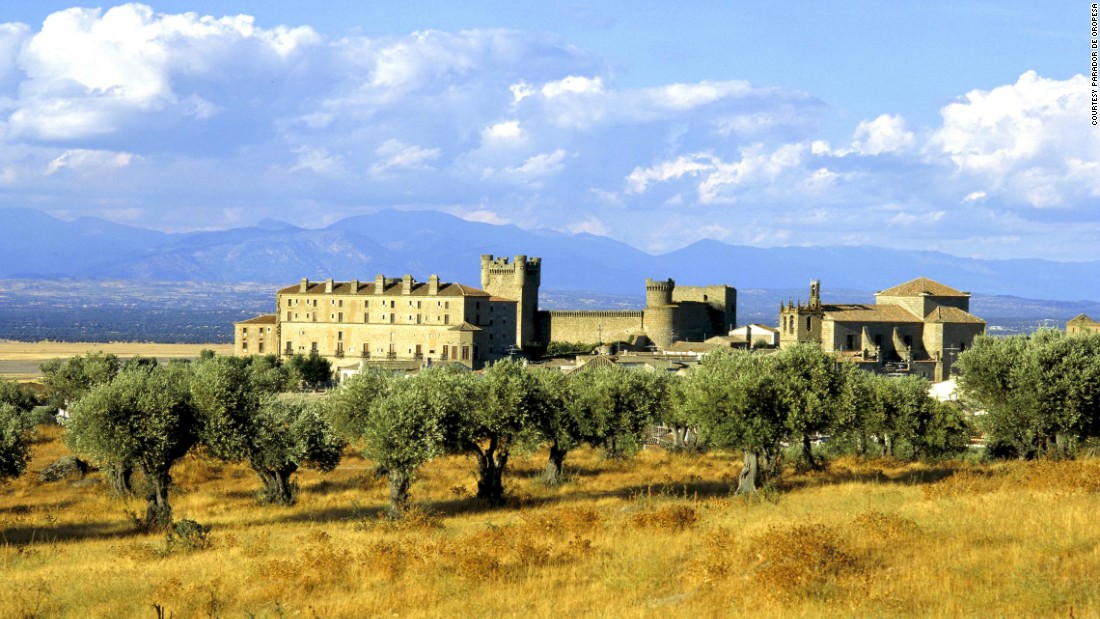 <strong>Parador de Oropesa </strong>-- At this 14th-century castillo, nestled at the foothills of the Sierra de Gredos in Toledo, Spain, you can book a room for just $75.