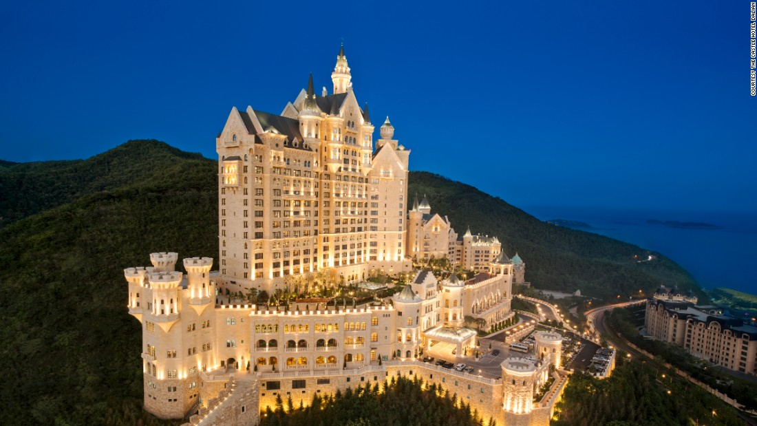 <strong>The Castle Hotel</strong> -- Built in 2014, this Luxury Collection Hotel in Dalian, China, was modeled after the grand fairytale palaces of Bavaria.