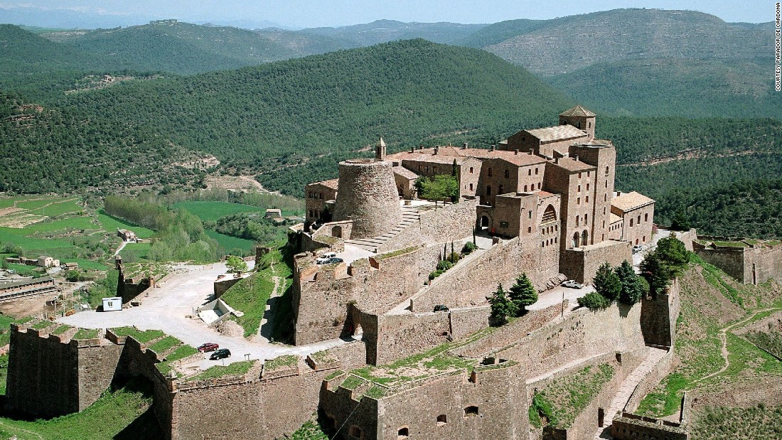 <strong>Parador de Cardona</strong> -- Dating back to 800, this medieval castle in Cardona, Spain, will make visitors feel transported back to the Middle Ages.