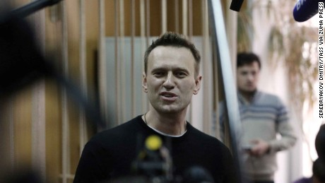 Navalny struck a defiant note during the hearing.