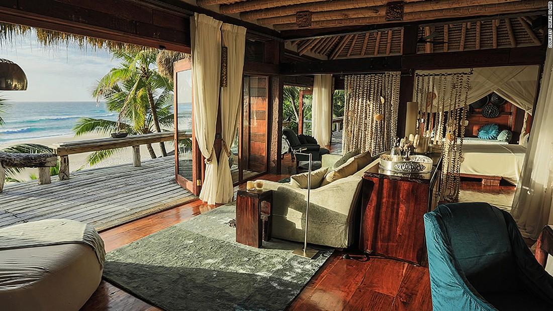 <strong>North Island (Seychelles): </strong>With breathtaking natural beauty and innovative design, this heavenly private island resort in the heart of the Seychelles boasts a star-studded guest list including George and Amal Clooney and the Duke and Duchess of Cambridge.