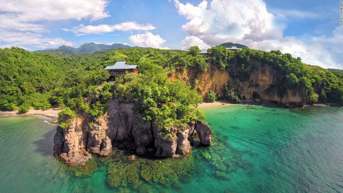 <strong>Secret Bay (Dominica): </strong>Relatively undiscovered compared to other Caribbean resorts of the same caliber, the uber-luxe Secret Bay -- with eight treehouse-style bungalows -- feels like your own secret hideaway.