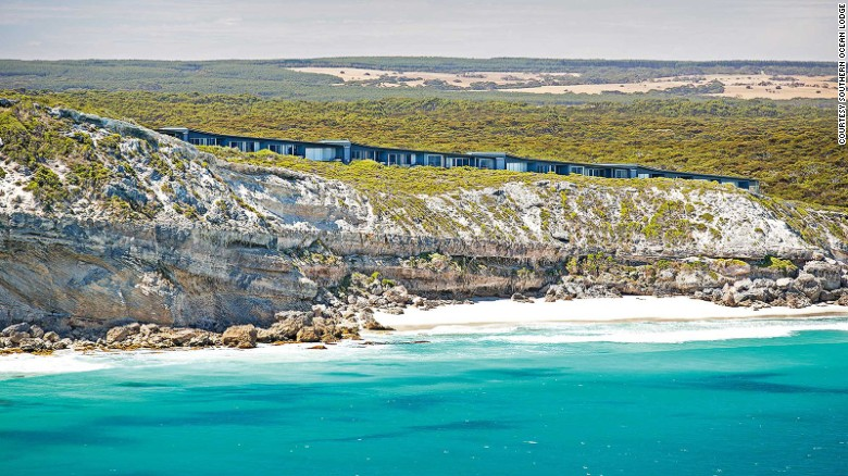 <strong>Southern Ocean Lodge (Australia): </strong>Southern Ocean Lodge's sleek glass-fronted suites are built atop scrub-covered bluffs on the southwest tip of Australia's Kangaroo Island.