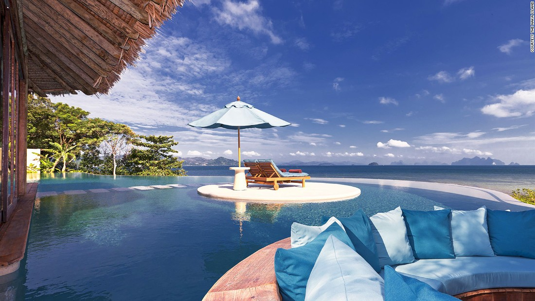 <strong>The Naka Island, A Luxury Collection Resort & Spa (Phuket, Thailand): </strong>If sunbathing on a deserted, unspoiled beachfront is too crowded for you, each villa is equipped with private pools and steam rooms.