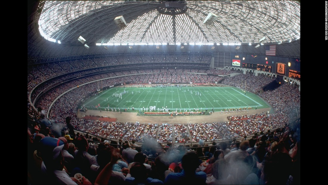 The Astrodome, former home of MLB's Houston Astros and the NFL's Houston Oilers, opened in 1965 and was the first fully enclosed sports stadium. It was also the first MLB park to use artificial turf.