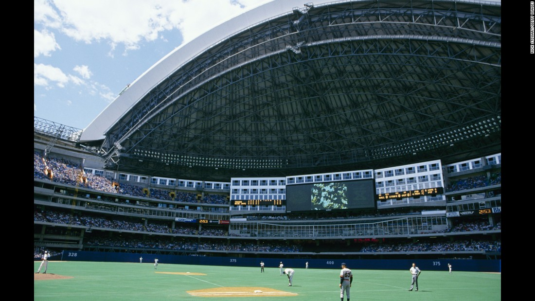 The first retractable-roof venue was the SkyDome (now called the Rogers Centre), which opened in 1989 for MLB's Toronto Blue Jays.
