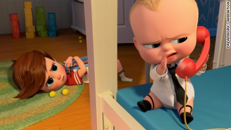 "Alec Baldwin voices a very bossy baby in ""The Baby Boss."""