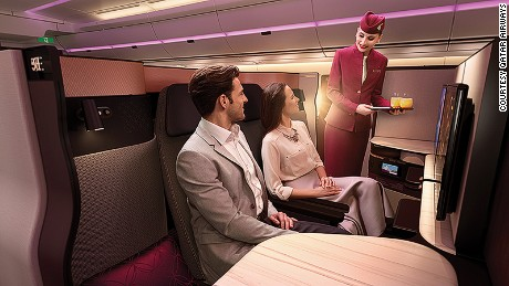 Qatar's new Business Class pods are built for sociability.