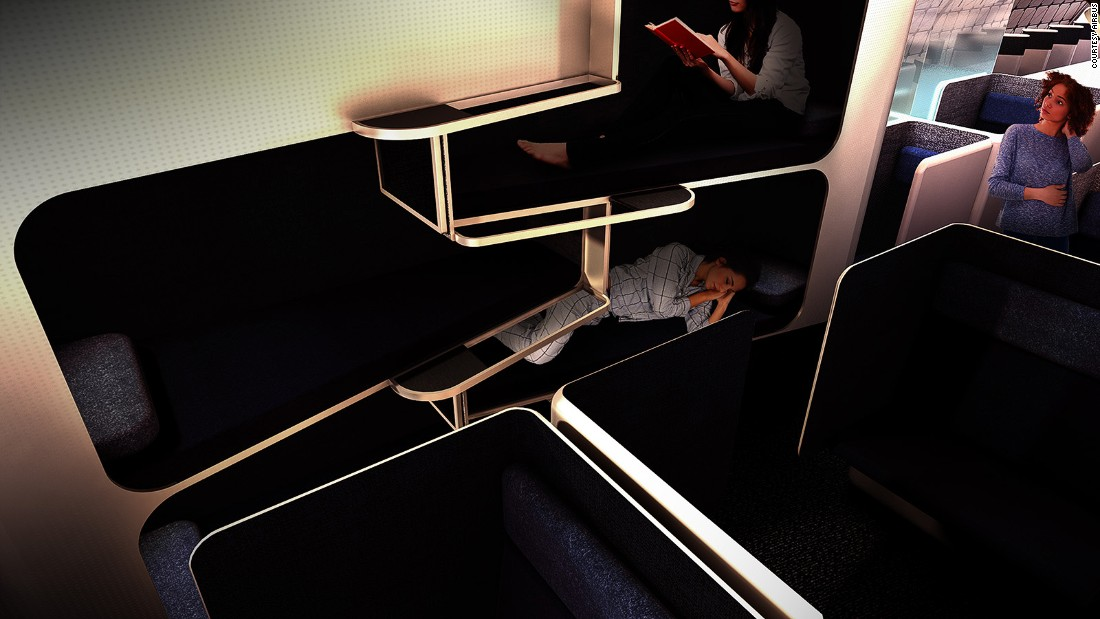 "<strong>Streamlining: </strong>Airbus hopes that Transpose will streamline the current limitations on redesigning plane cabins. ""Airlines are responding to that desire for customization, but right now there are significant limitations to bringing a similar level of choice to commercial air travel,"" says Jason Chua, project executive at A³ by Airbus Group."