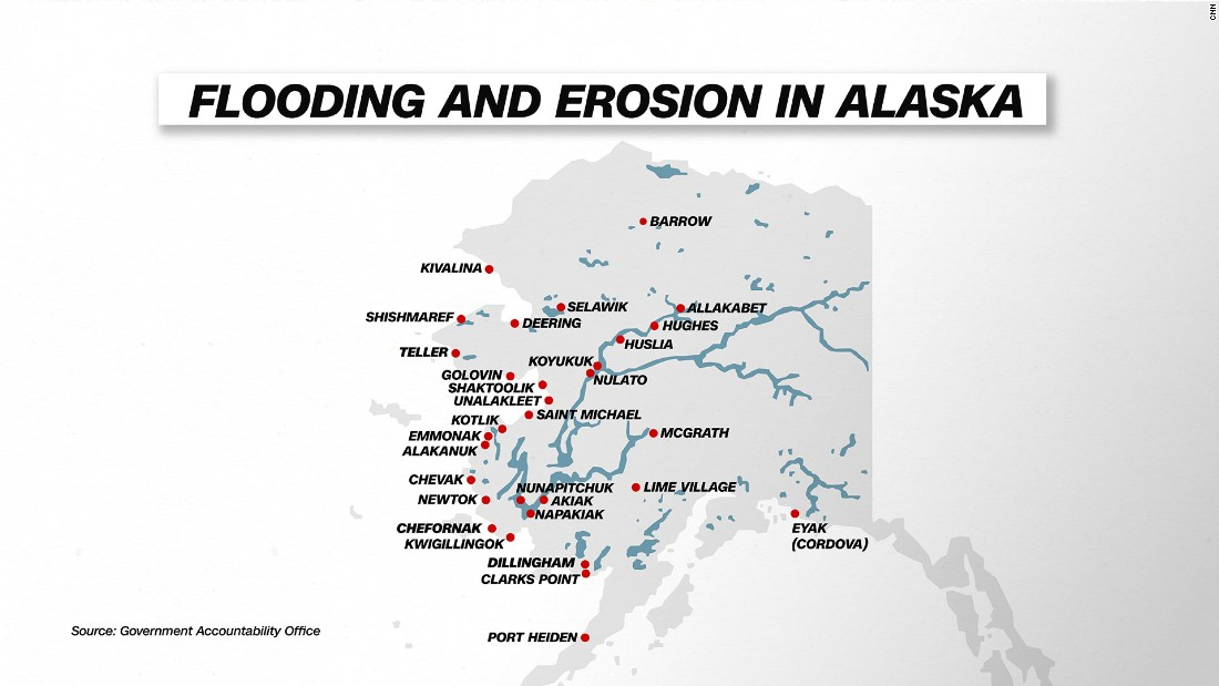 Shishmaref Alaska Tragedy Of A Village Built On Ice CNN - Map of us if climate change creates flooding on coats