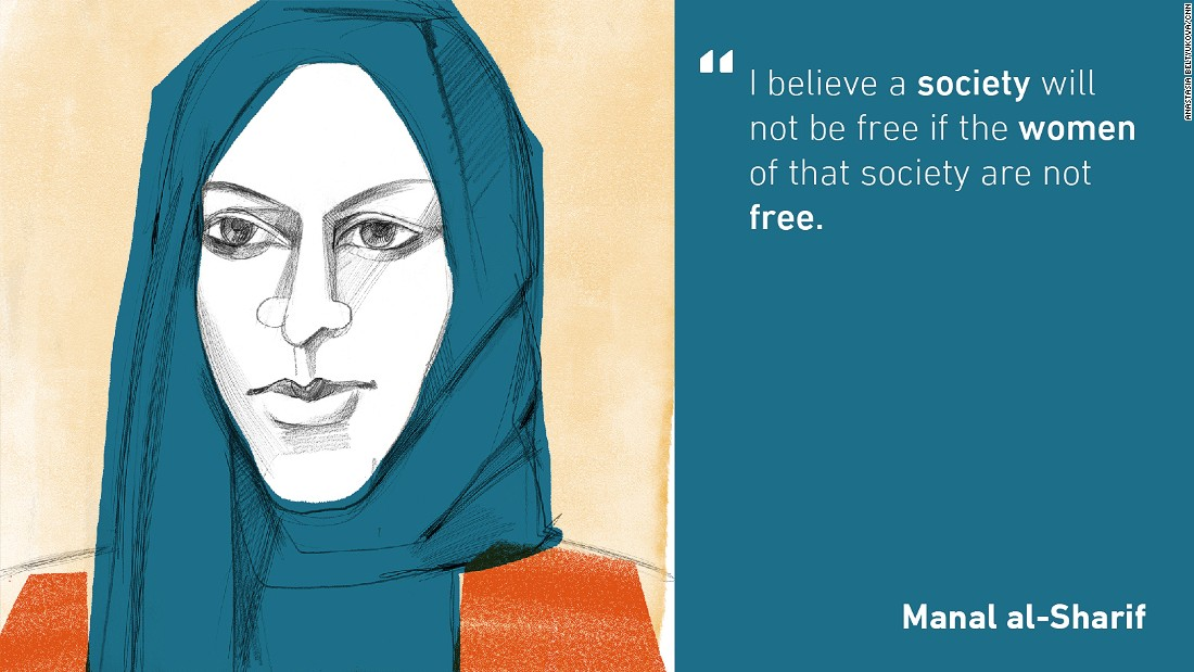 "In 2011, Manal al-Sharif made history by leading a successful campaign -- Women2Drive -- that called for Saudi Arabian women to have the right to drive. She was arrested after posting a YouTube video asking for women to drive but with the support of international media and online and street protests, was released nine days later. In 2012, she was recognized as one of the ""100 Most Influential People in the World"" by Time Magazine and she won the inaugural Václav Havel Prize for Creative Dissent."