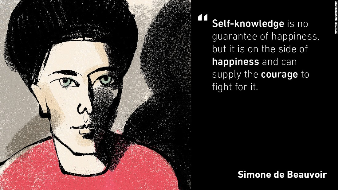 "Simone de Beauvoir was a French existentialist philosopher and the author of ""The Second Sex"", published in 1949, which became a landmark in feminist literature. It analyzed the treatment and perception of women throughout history, and was deemed so controversial that the Vatican put it on the Index of Prohibited Books."