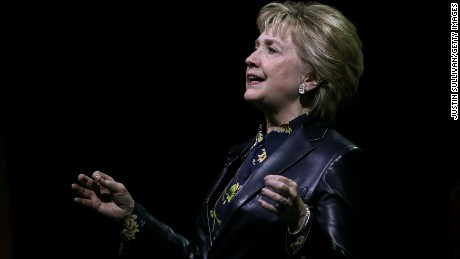 Hillary Clinton's back in the spotlight, but decidedly not on the campaign trail