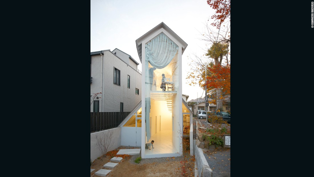 If this looks like a house that kids would draw, that's because it is. Nakayama starts his projects with a cartoon on paper. But don't be fooled by its childlike qualities, this shape also cleverly overcomes the problem of its deep, narrow site in Kyoto.