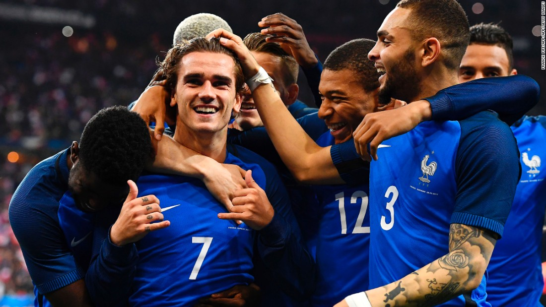Three minutes into the second half, Antoine Griezmann thought he had put the home side ahead in Paris.