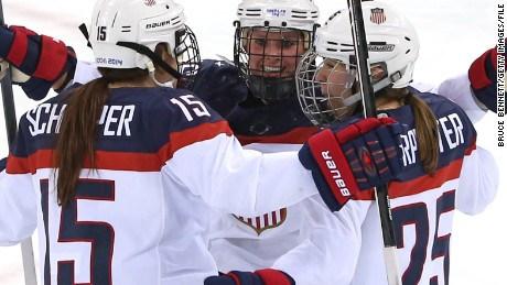 US Women's Hockey team shoots for equality -- and scores