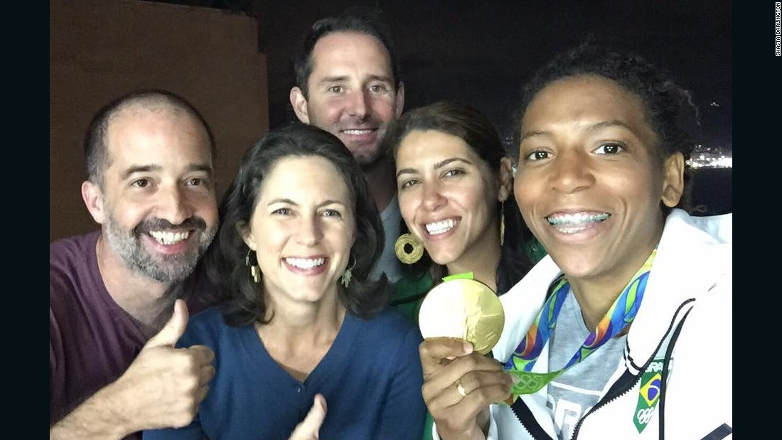 """Rafaela Silva (right) was quick to pick a fight while growing up in the 'City of God' slum in Rio de Janeiro -- but she channeled those skills to become one of Brazil's top judokas,"" says <a href=""http://edition.cnn.com/profiles/shasta-darlington"" target=""_blank"">Darlington</a>. ""After suffering racist epithets in the 2012 Olympics, she won Brazil's first gold medal in the 2016 Games, showing the country and the kids from 'City of God' just what it means to never give up.""<br /><a href=""/2016/08/10/sport/olympics-rafaela-silva-favela/index.html"" target=""_blank""><br />Discover more about the story of Rafaela Silver, Rio's golden girl.</a>"