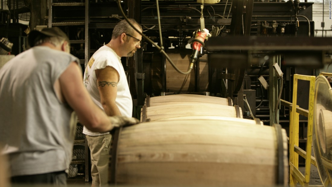 Although technology has sped up the process of making whiskey barrels, the job of the cooper remains integral to the process.