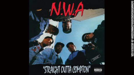 "NWA ""Straight Outta Compton"" album cover."