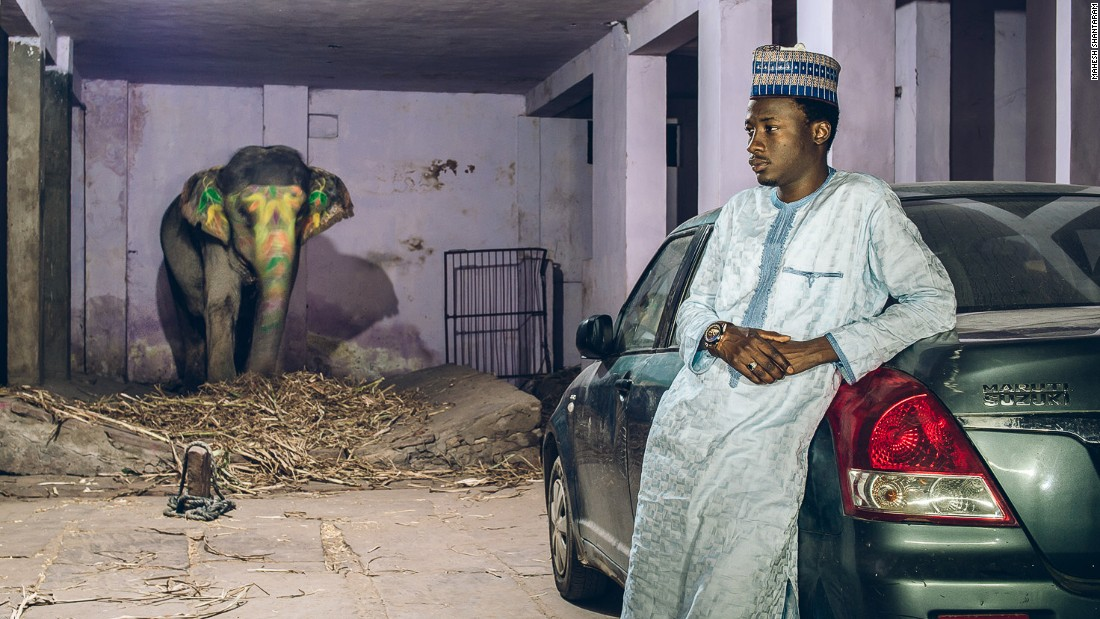 """I met them and spoke to them at length to try and  understand the gravity of the situation, the everyday racism that they face,"" he said. <br /><br />Pictured: Aminu from Bauchi, Nigeria pursues a B.A. in Economics from NIMS, Jaipur.<br /><br />Photo courtesy of: Mahesh Shantaram"